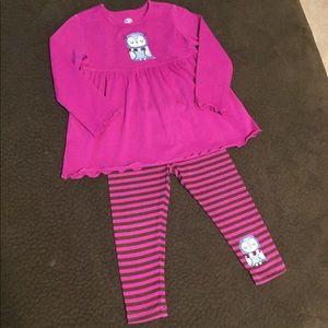 Girls 2t J. Khaki matching owl set